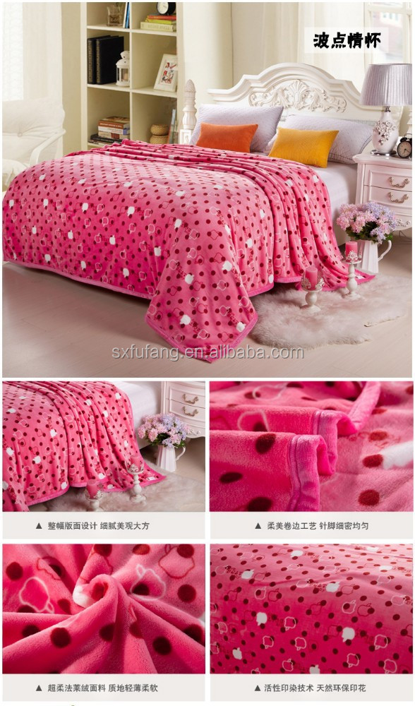 royal printing pink lovely apple fruit design blankets flannel fleece blankets