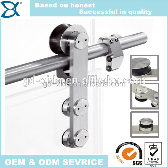 Stainless steel glass door sliding hanging patio door rollers