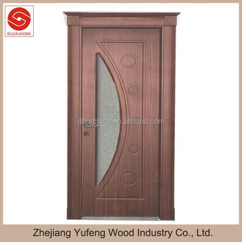 Turkish Wooden Diamond Glass Interior Doors Pvc Sample Door Design