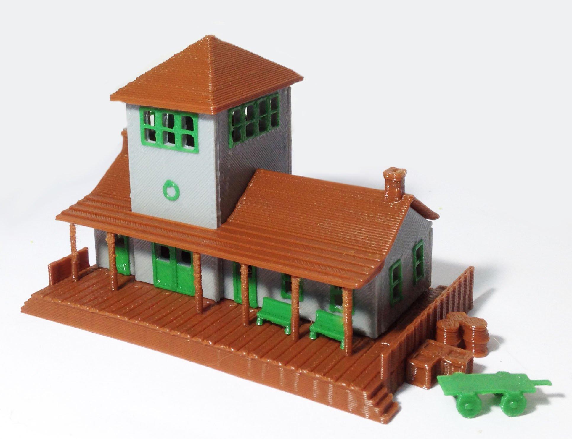 Outland Models Train Railway Series Miniature Overhead Footbridge Z//N Scale