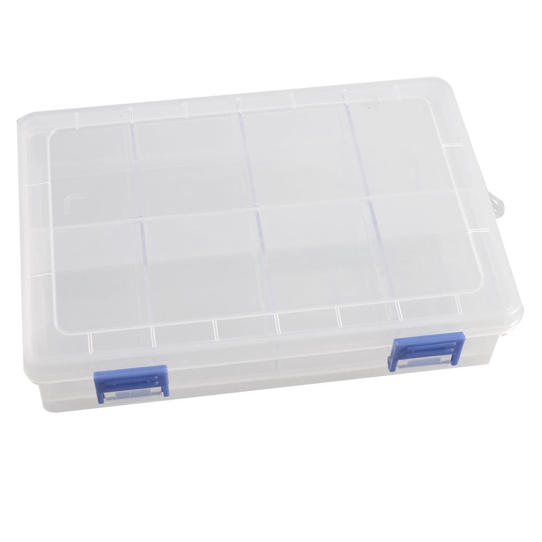 uxcell Transparent Plastic 8 Compartments Electronic Component Case Organizer