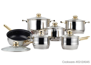Amc High Quality Stainless Steel German Cookware Sets Cookware Cooking Pot Pan Set