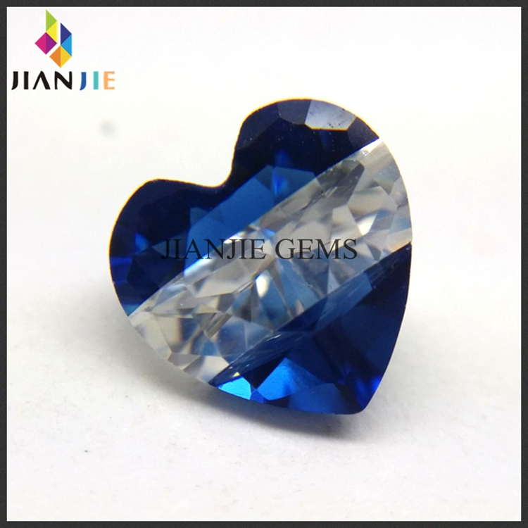 China Supplier zirconia 7 mm blue cz gemstone color mixed for sale