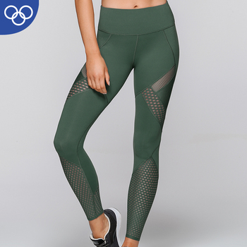 Custom Fitness Wear High Waisted breathable knitting Women Tight leggings deporte