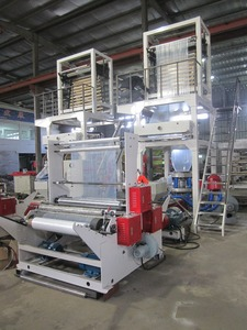 HAS VIDEO new type blown film extrusion machine