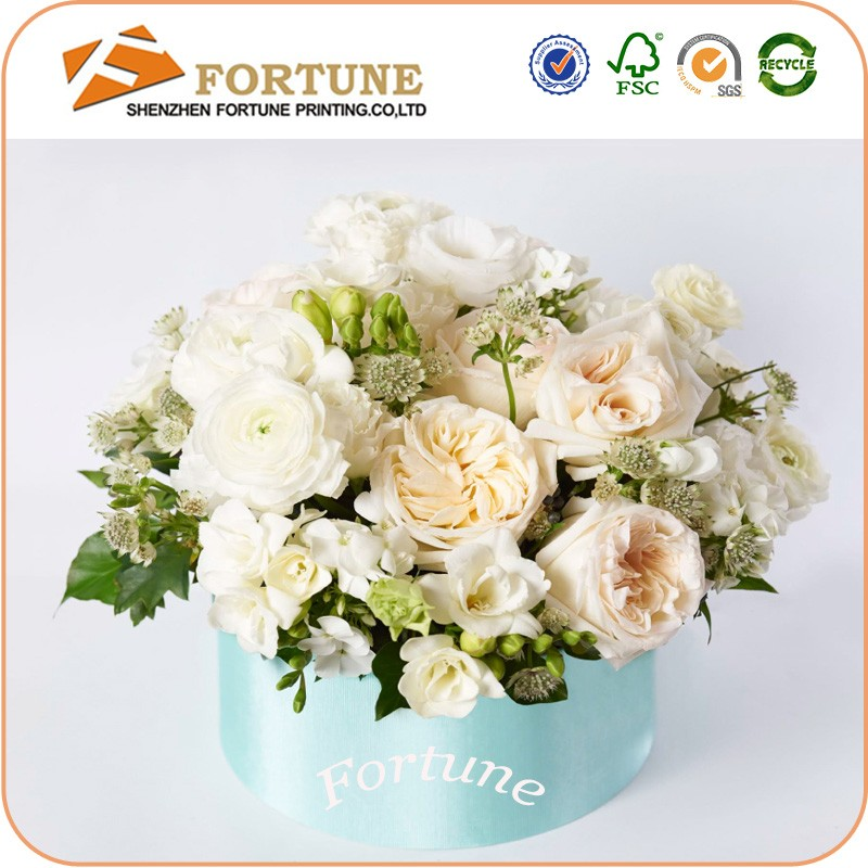 China Suppliers Large Round Cylinder Cardboard Flower Boxes