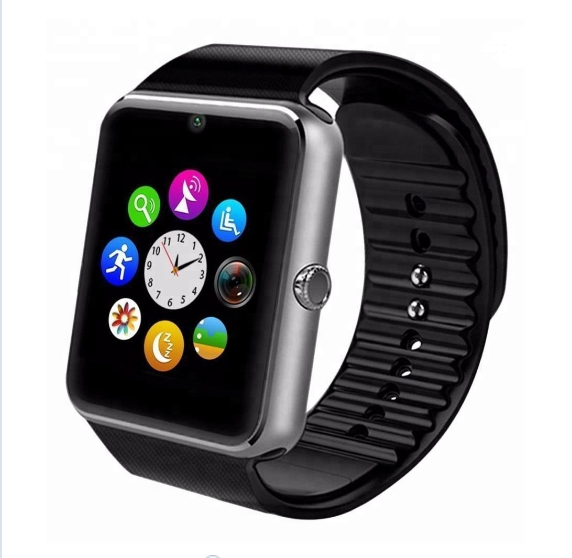 2018 Wholesale Android Camera Blue tooth Smartwatch Wrist Mobil Smart Watch Phone GT08 Sport Smart Watch With Sim Card Slot