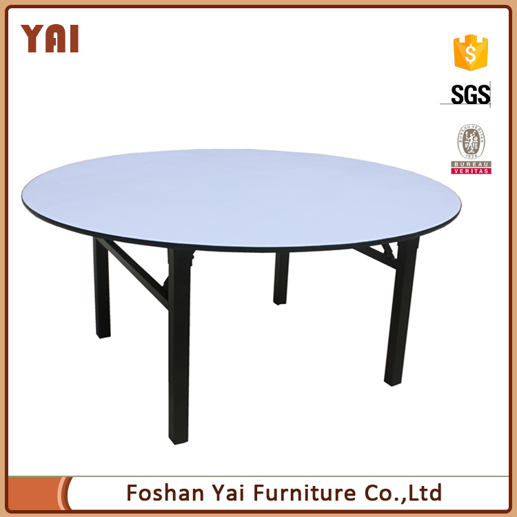 wholesale metal customized PVC 10 people circle round banquet hall party wedding foldable dining table