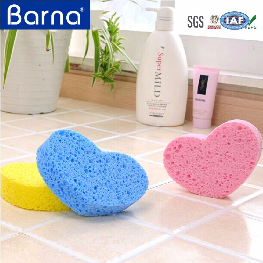 hot selling yellow/white/pink kitchen cellulose sponge, cellulose sponge with cute design