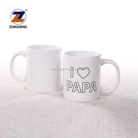 11 oz wholesale custom cheap plain white ceramic mugs