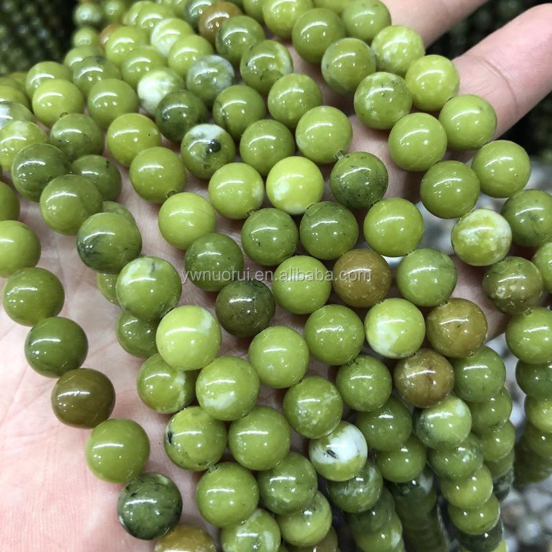Verde Giada Del Sud di Lava Naturale Pietra Tallone Per Il Braccialetto di Diy Dei Monili