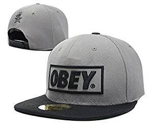 Get Quotations · Official OBEY Flat Visor Logo Style Snapback Cap Hat cc4eab4650d1