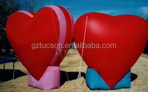 High Quality Valentines Day Gift Giant Led Inflatable Heart For Show For Event