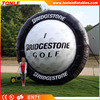 giant Custom Inflatable Golf Tire for sale, inflatable tires replica