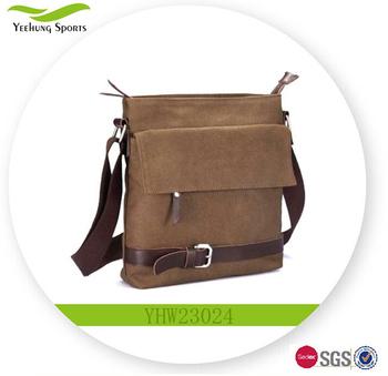 f83d111a9a Men Vintage Canvas Satchel School Military Business Shoulder Messenger Bag