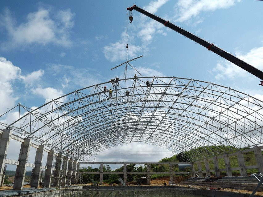 Steel Structure Construction Metal Truss Building for Coal Storage Shed