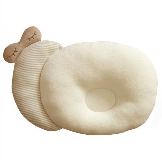 Hot selling baby nursing memory pillow flat head shaping baby pillow