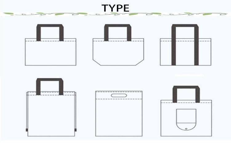 Fabriek Recyclebaar Stof Tote zwart Niet Geweven Gift Bag Met Aangepaste Gedrukte Logo