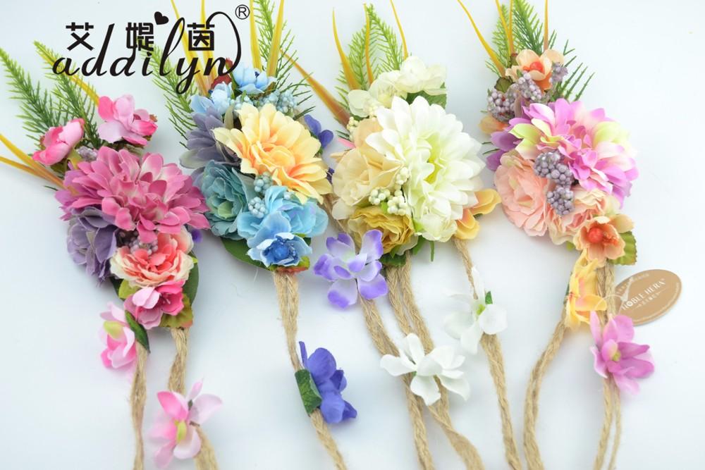 Attractive fabric ladies flower belts for dress with diy - Plantas de plastico baratas ...