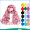 solid colour pure chiffon scarf