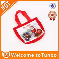 Novelty santa claus high quality candy bag kinds of christmas decorations