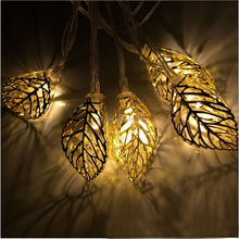 Solar Powered 10 LED Warm White Tree Leaf Decorative String Lights for Indoor, Outdoor, Garden, Fence, Patio, Wedding decor