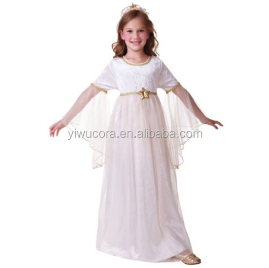 Angel Girls Fancy Dress Nativity Gabriel Christmas Kid Childs Costume Outfit New