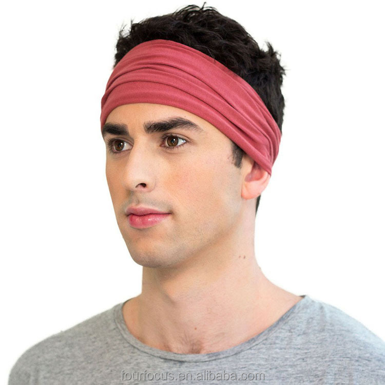 Yoga Cotton Polyester Stretchy Sports <strong>Headbands</strong> with custom Logo