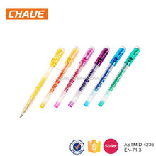 Factory sale premium promotion glitter free samples gel pen
