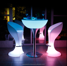 Light up lounge highboy event plastic wireless control led illuminated cocktail table