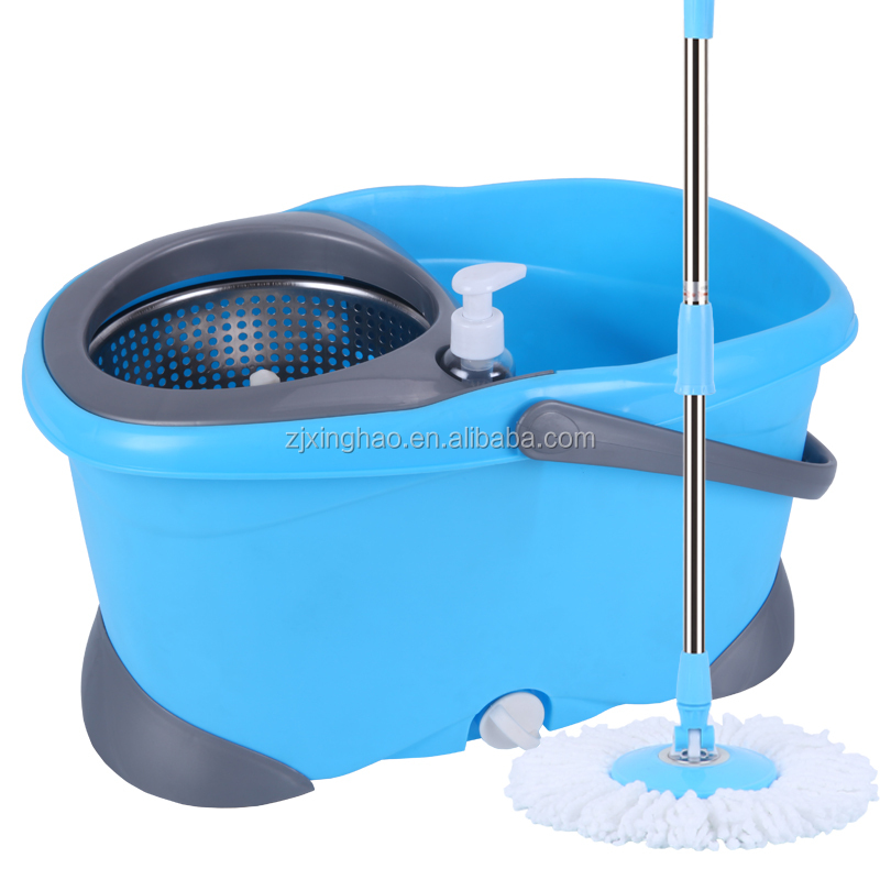 ISO microfiber whirl 360 degree rotating spin mop and bucket