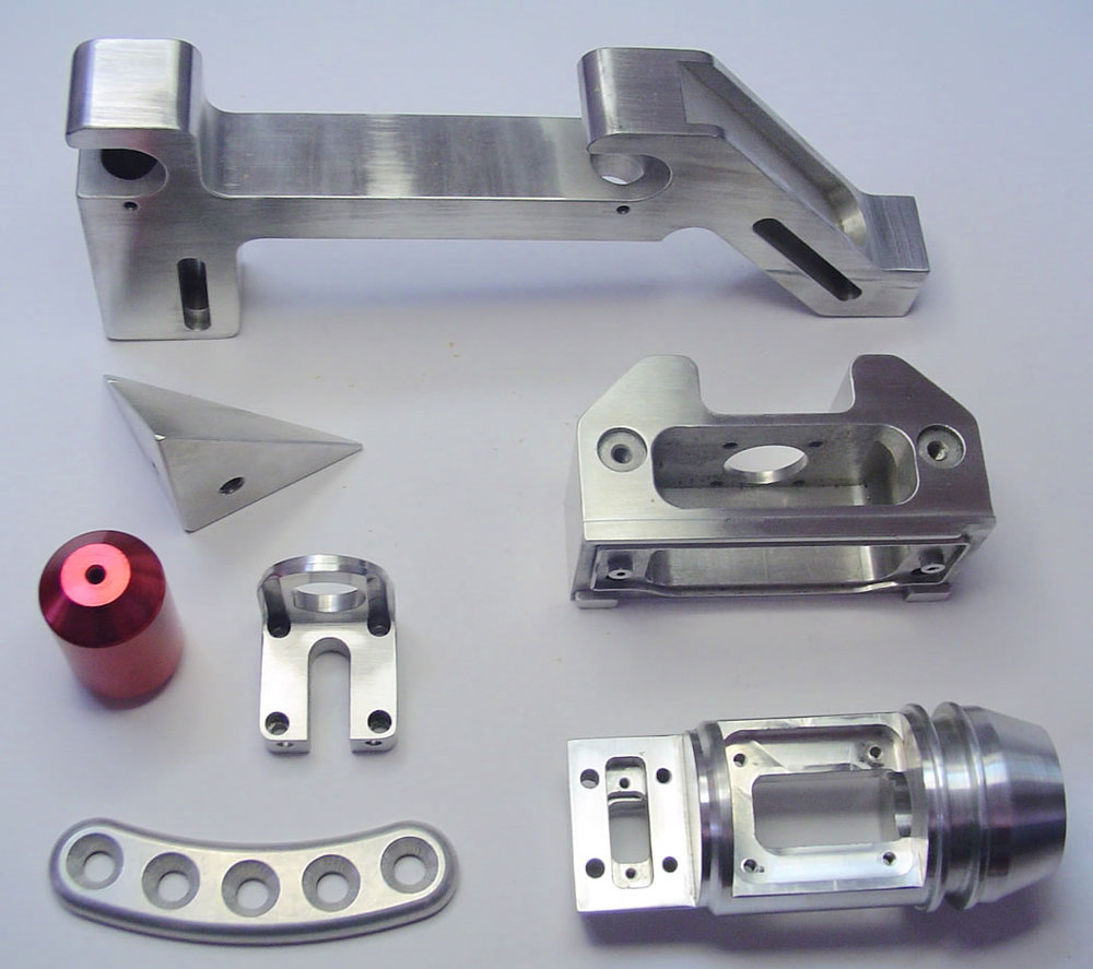 OEM 5 Axis CNC Milling Parts Of Prototype Anodized Aluminum Parts