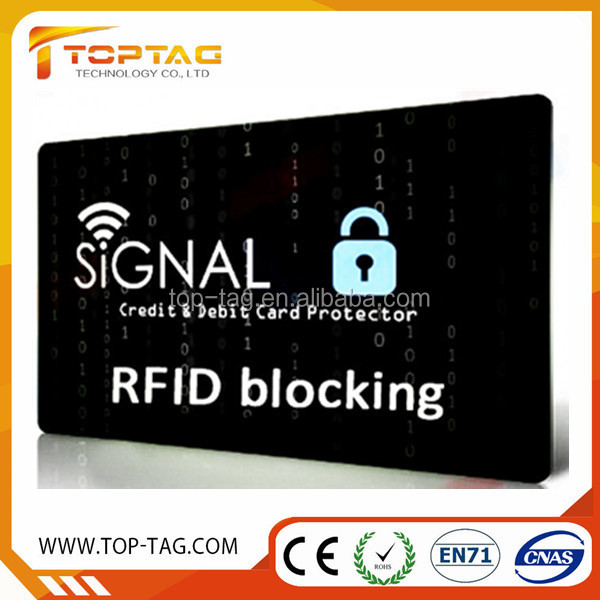 avoid sim blocking card , signal block rfid id cards , security guard card