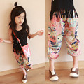 MS75434B Kids girls colorful boho style summer pants