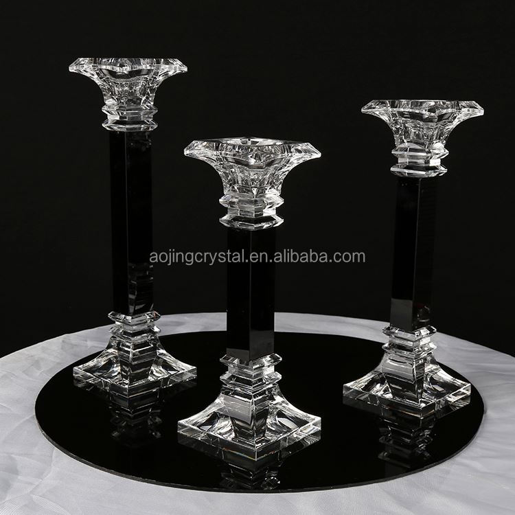Hot selling OEM quality luxurious glass crystal candle holder manufacturer sale