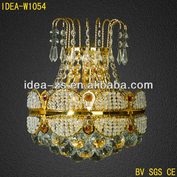 Luxury Design Modern Crystal Decorates Metal Wall Lamp For Hotel