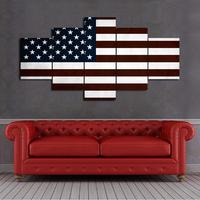 new products American Flag Modern Wall Decor USA Canvas HD Print Painting 5 panel Framed Pictures Posters