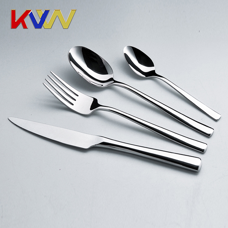 Wholesale stainless steel cutlery custom spoon knife fork tea spoon cheap stainless steel soup spoon