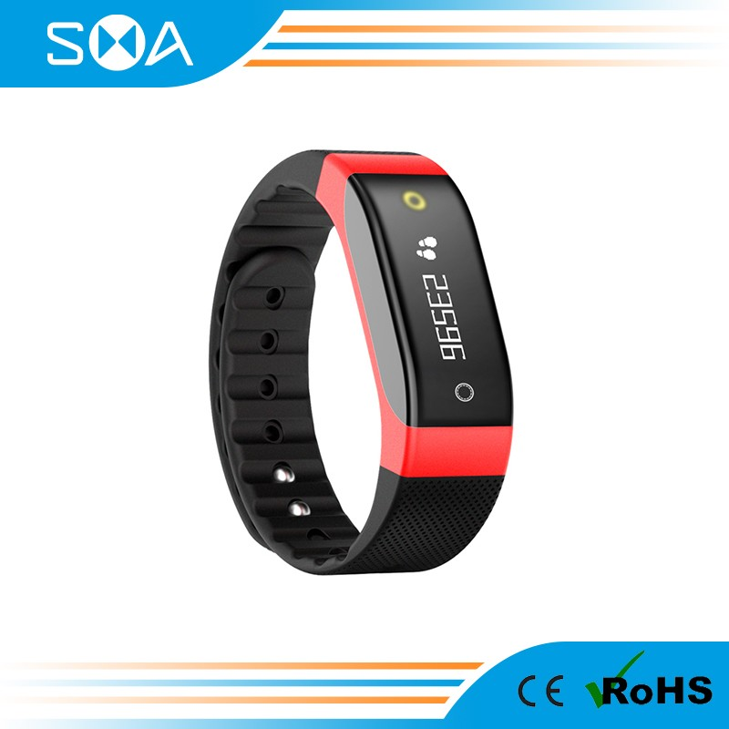 2017 Hot Customize App with Customers Logo Heart Rate Pedometer Support 40+ Different Countries Lang Smartband SMA-COACH