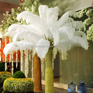 centerpieces for wedding table decorations white ostrich feather tree