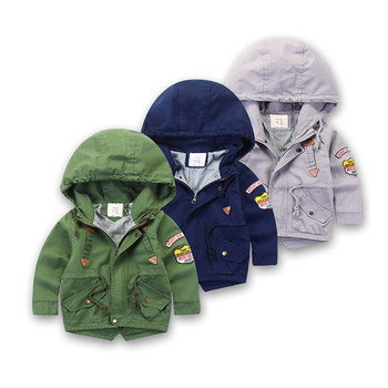 c75228c375fe2 Factory direct baby clothes New fashion keep warm baby boy blue winter  coats Grey kids outerwear