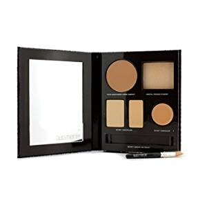 The Flawless Face Book - # Sand (1x Creme Compact 1x Pressed Powder w/ sponge 1x Secret Camouflage...) 5pcs