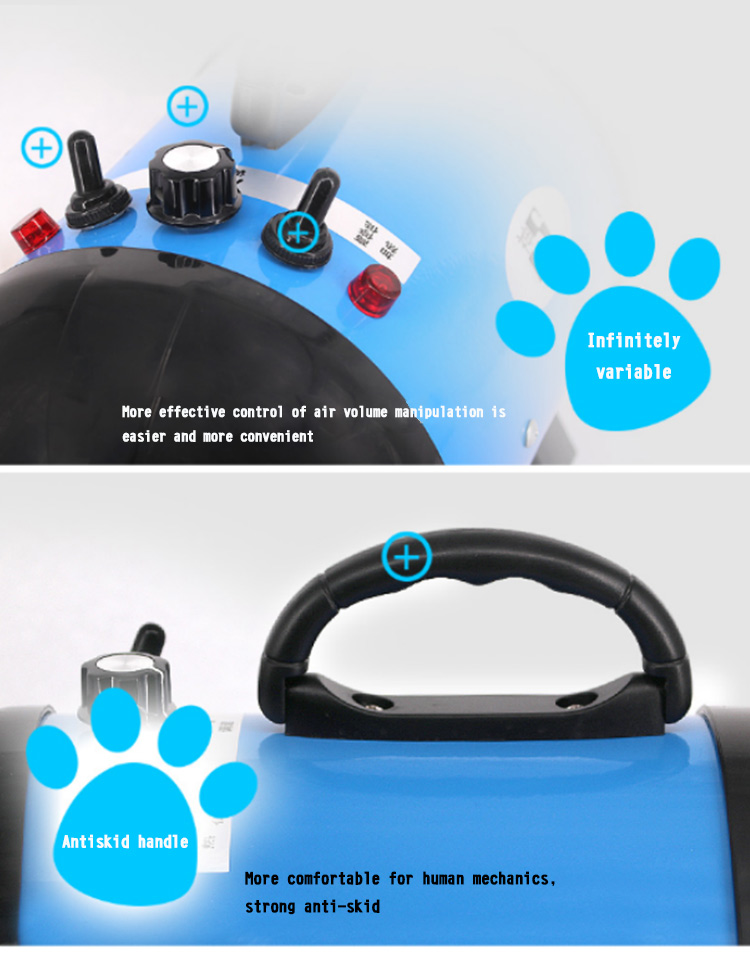 Pet hair blower dog dryer pet groomig products with stand