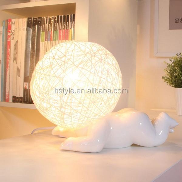 New Modern Unique Big Head Ceramic Figure Actions Table Lamps 220v ...