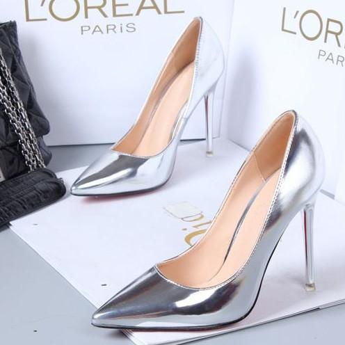 Nina Shoes Silver Heels