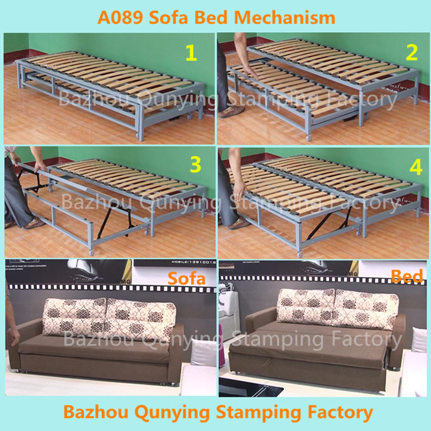 Pulled Out Sofa Bed Mechanism Frame A089 Drawered Product On