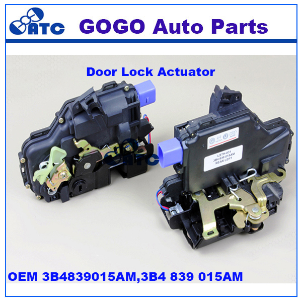 GOGO left rear Door Lock Actuator for VW JETTA GOLF OEM 3B4839015 3B4839015AL 3B4839015M