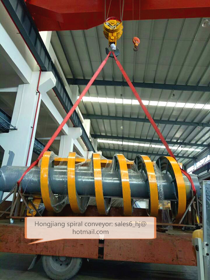 China Standard Chain Spiral Conveyor for lift up and down products between plant floors