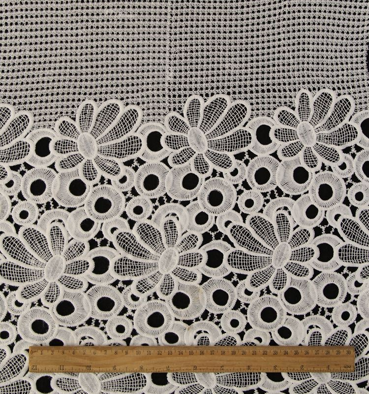 Wholesale embroidery designs chemical lace fabric market in dubai chemical lace fabric