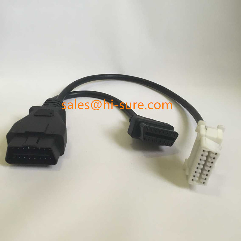 auto wire harness connector OBDII OBD2 16 obd2 cable auto wire harness connector, obd2 cable auto wire OEM Wiring Harness Connectors at webbmarketing.co